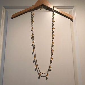 J. Crew Amber tear drop necklace